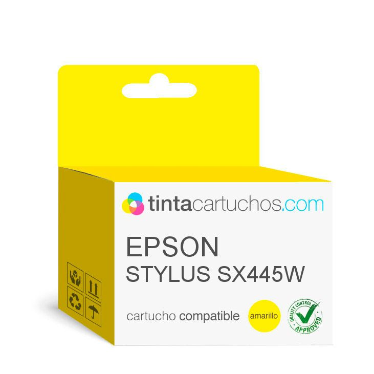 cartuchos de tinta compatible para epson stylus sx445w amarillo t01294. Black Bedroom Furniture Sets. Home Design Ideas